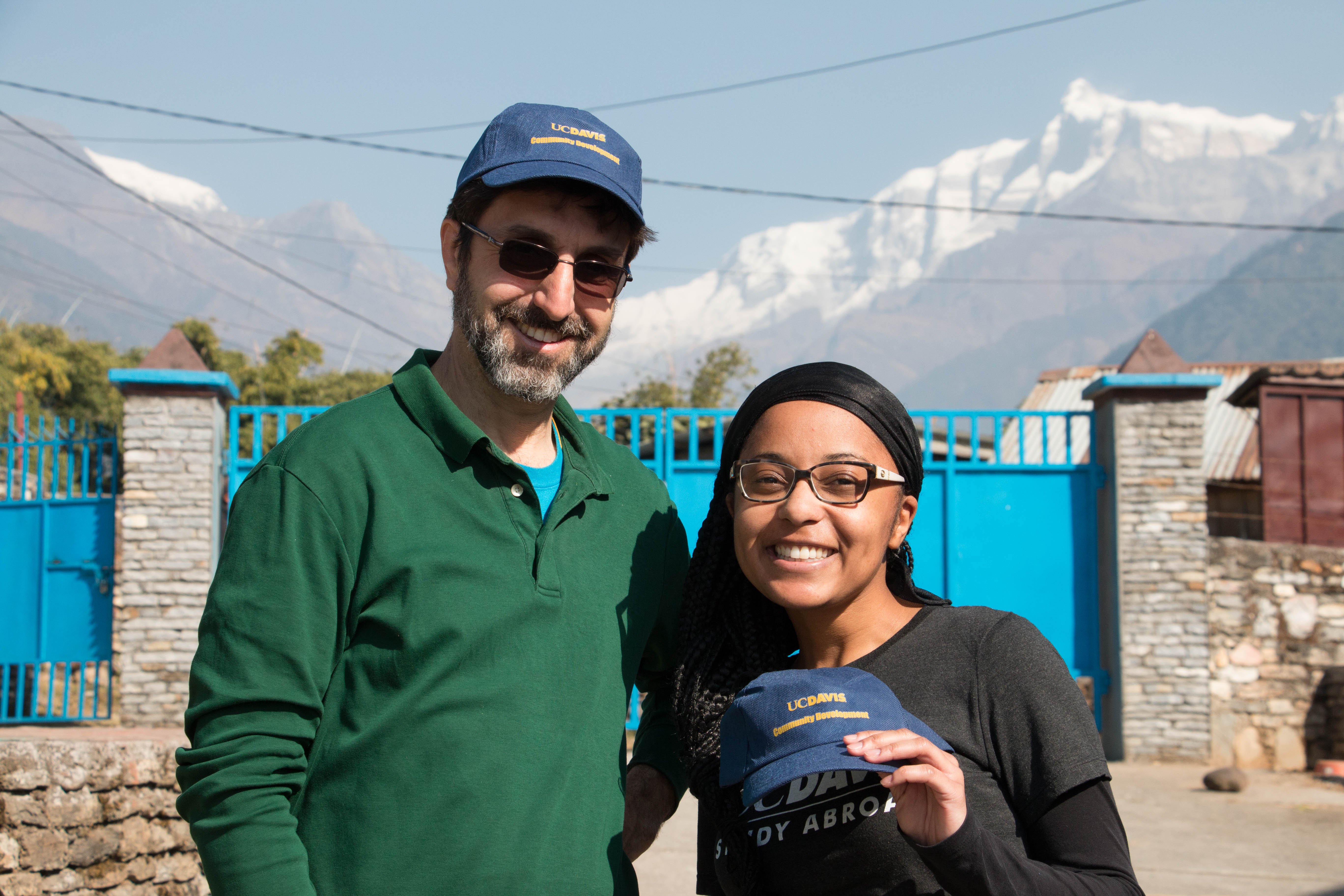 Professor Jonathan London and MS student, Shani Alford in Nepal